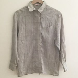 Karl Lagerfeld Linen/Silk Top